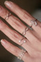 White Gold Infinity Midi Ring Set of 2 from kellinsilver.com