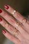 CZ Heart Wrap Ring Gold from kellinsilver.com