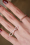 Rose Gold Pink CZ Cross Infinity Ring Sterling Silver from kellinsilver.com