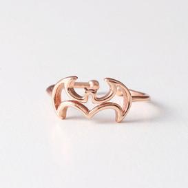 Rose Gold Bat Ring Wrap from kellinsilver.com