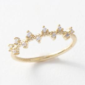 CZ Fancy Ring Gold from kellinsilver.com