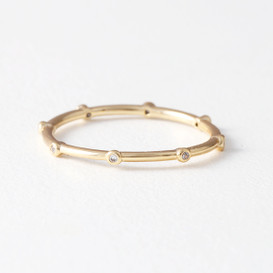 CZ Point Eternity Ring Gold from kellinsilver.com