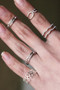 White Gold Kiss Me Midi Ring Set of 2 from kellinsilver.com
