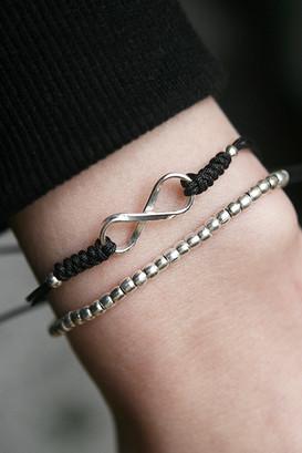 Sterling Silver Infinity Macrame Bracelet from kellinsilver.com