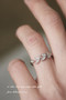 CZ Olive Leaf Wrap Ring White Gold from kellinsilver.com
