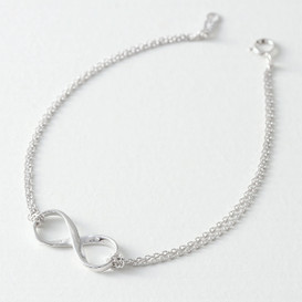 Sterling Silver Double Chain Infinity Bracelet from kellinsilver.com