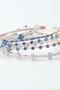 Swarovski Sapphire Clover Bangle Bracelet White Gold from kellinsilver.com