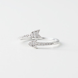 CZ White Gold Arrow Wrap Ring from kellinsilver.com