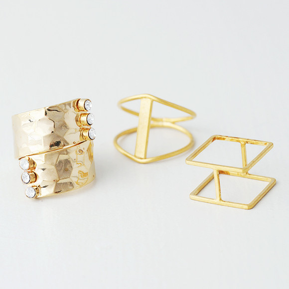 Alchemist Gold Ring Set of 3 from kellinsilver.com