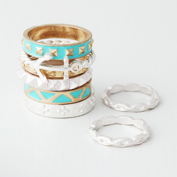Mint Anchor Vintage Inspired Ring Pack from kellinsilver.com