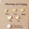Monday to Friday Swarovski Pearl Figure Gold Stud Earrings Pack from kellinsilver.com
