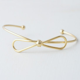 Gold Bow Cuff Bracelet from kellinsilver.com