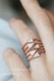 CZ Rose Gold Spike Stackable Ring Set from kellinsilver.com