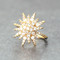 CZ Pave Gold Galaxia Star Ring from kellinsilver.com