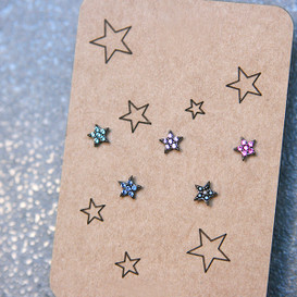 Swarovksi Twinkle Tiny Five Star Stud Earrings Pack  from kellinsilver.com