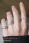 CZ White Gold Snowflake Midi Ring Snowflake Jewelry from Kellinsilver.com