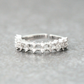 CZ Elegant Bridal Ring White Gold from kellinsilver.com