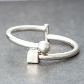 Sterling Silver Bold Figure Cuff Bracelet from kellinsilver.com