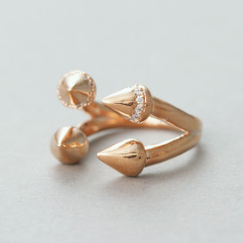 Rose Gold Double Spike Ring Cuff from kellinsilver.com