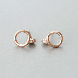 Tiny Rose Gold Nail Stud Earrings from kellinsilver.com