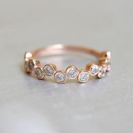 CZ Bezel Cluster Rose Gold Wedding Ring Sterling Silver from kellinsilver.com