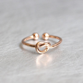 Rose Gold Heart Knot Ring Sterling Silver from kellinsilver.com