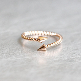 Rose Gold Spike Ring Sterling Silver from kellinsilver.com
