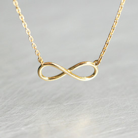 Gold Infinity Necklace from kellinsilver.com