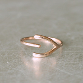 Sideways Wishbone Wrap Ring Rose Gold from kellinsilver.com