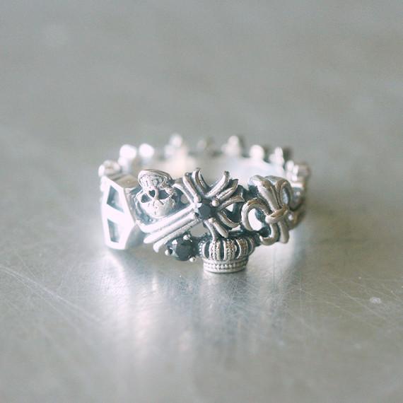 Sterling Silver Celtic Cross Skull Ring Kellinsilver Com