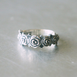 Oxidized Sterling Silver Vintage Inspired Rose Ring from kellinsilver.com