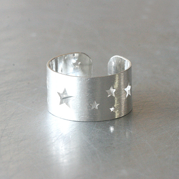 Sterling Silver Starry Light Wrap Ring from kellinsilver.com