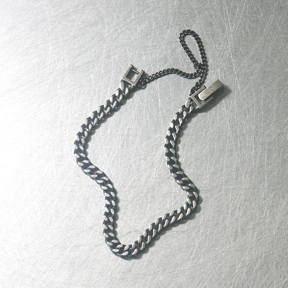 Oxidized Sterling Silver 4mm Chain Bracelet from kellinsilver.com