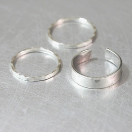 Chic Silver Ring Set Of 3 from kellinsilver.com