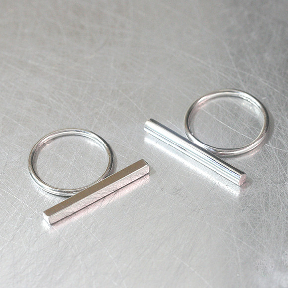 Flat OR Round Sterling Silver Bar Ring from kellinsilver.com