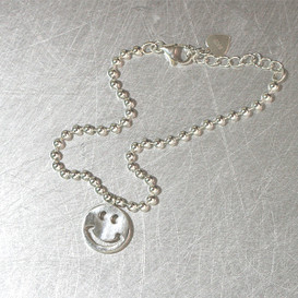 Sterling Silver Smile Ball Bracelet Anklet from kellinsilver.com