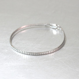3mm Sterling Silver Box Wire Bracelet from kellinsilver.com