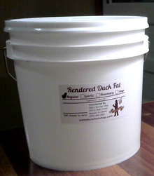 Gallon of Duck Fat (7.5 lbs)