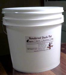 Gallon of Duck Fat (7.5 lbs)
