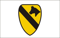 1st Cavalry (White Background) Military Flags
