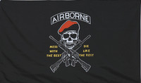 """""""Mess With the Best"""" Airborne Military Flags"""