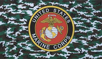 USMC Camouflage Military Flags