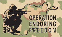 """""""Operation Enduring Freedom"""" Military Flags"""