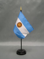Argentina (with Seal) (UN OAS) Stick Flags
