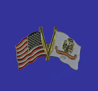 U.S./Army Double Flag Lapel Pin