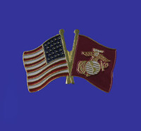 U.S./Marine Corp Double Flag Lapel Pin