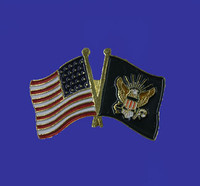 U.S./Navy Double Flag Lapel Pin