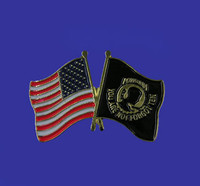 U.S./POW-MIA Double Flag Lapel Pin