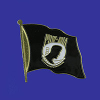 POW-MIA Single Flag Lapel Pin