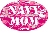 Navy Mom Oval Magnet